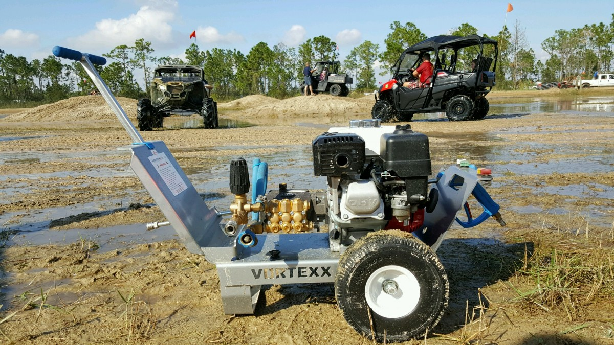 Vortexx Pressure Washers at the Redneck Mud Park